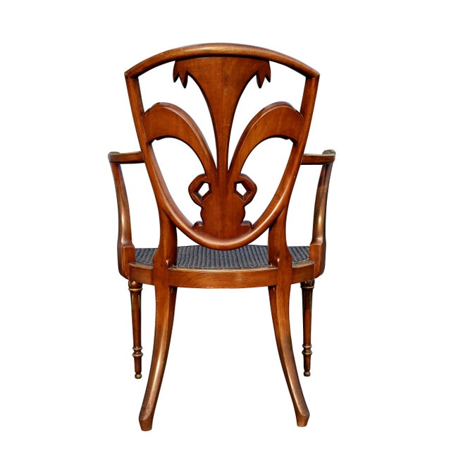Edwardian Satinwood and Painted Armchair For Sale - Image 10 of 11