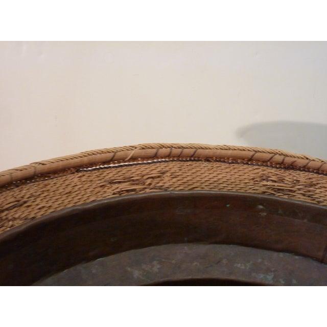Copper Lined Basket Cachepot For Sale - Image 4 of 8