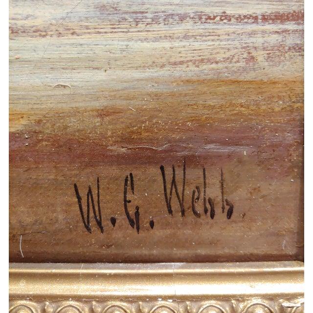 Blue William Edward Webb - 19th Century Coastal Beach Scene -Oil Painting For Sale - Image 8 of 11