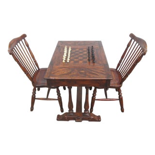 Theodore Alexander Castle Bromwich Country Game Table & Chairs - Set of 3