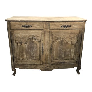 18th Century Boho Chic Oak Washed Buffet Sideboard