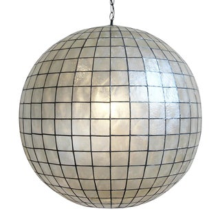 Capiz Globe Lantern 30 For Sale