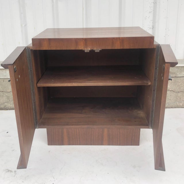Mid-Century Brutalist Nightstand For Sale In New York - Image 6 of 13