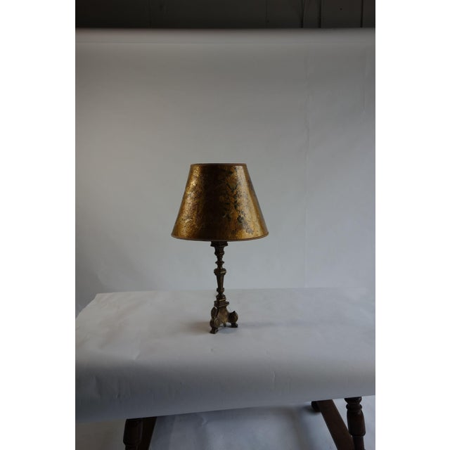 Golden Hand Painted Lamp - Image 2 of 8