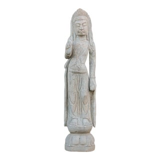 Bodhisattva Stone Quan Yin Statue For Sale
