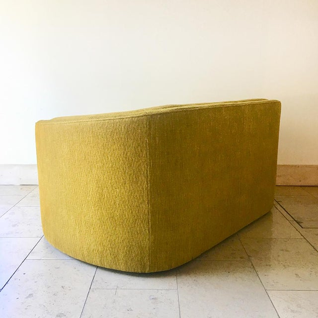 Mid-Century Modern A Curved Arm Upholstered Sofa by Talisman Bespoke For Sale - Image 3 of 6