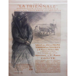 "Théophile Alexandre Steinlen ""La Trienale"" Poster, 1916 For Sale"