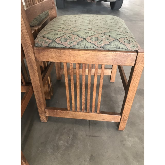 Stickley Late 20th Century Arts & Craft Mission Stickley Furniture Oak Side Dining Chairs- Set of 6 For Sale - Image 4 of 8