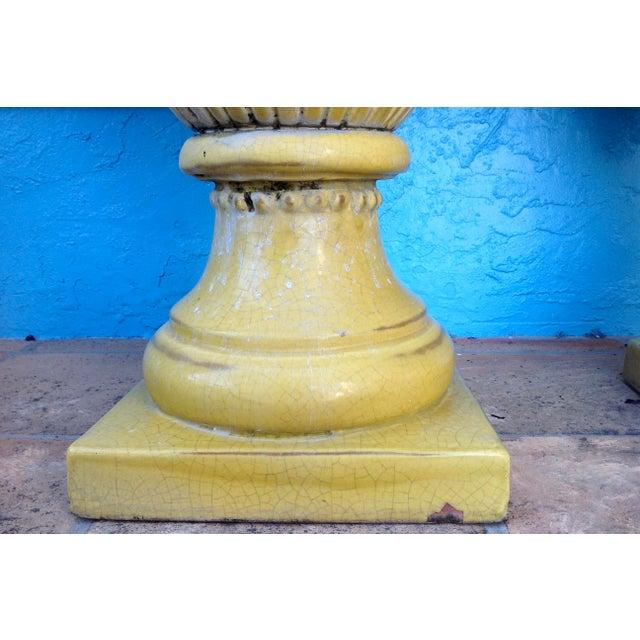 Pair of Massive Glazed Terracotta Garden Urns For Sale - Image 12 of 13