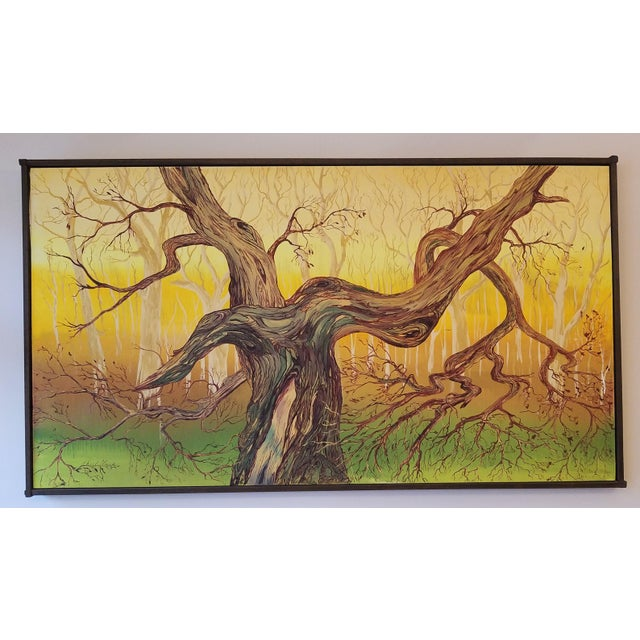 1965 Abstract Madrona Tree Oil Painting by Charles Radke, Framed For Sale In Seattle - Image 6 of 6