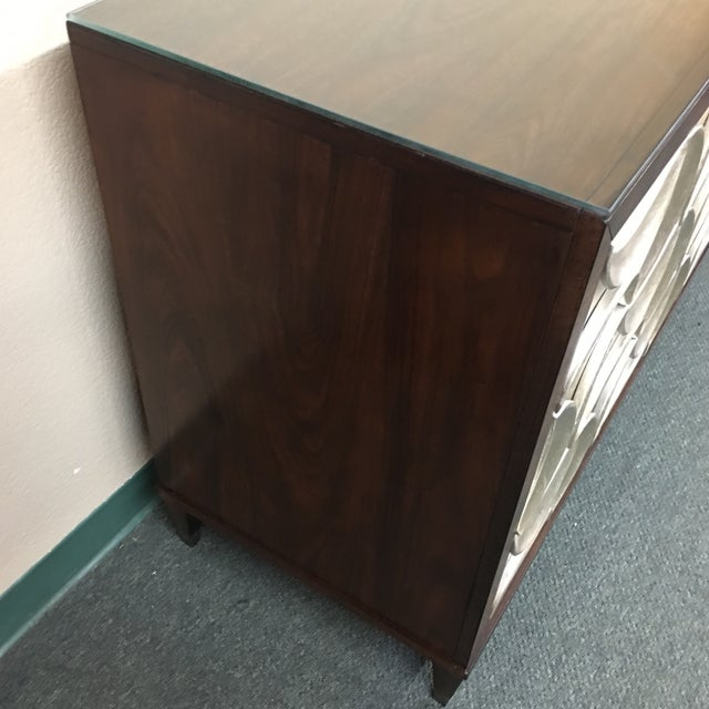 Caracole Rosewood & Silver Tie One On Three Drawer Chest For Sale In San Francisco - Image 6 of 11
