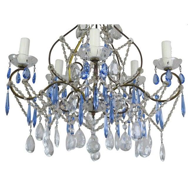 Cobalt blue clear crystal chandelier cobalt blue clear crystal chandelier image 3 aloadofball Choice Image