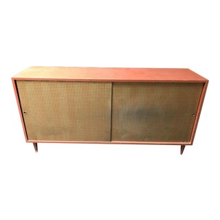 Credenza With Pegboard Doors