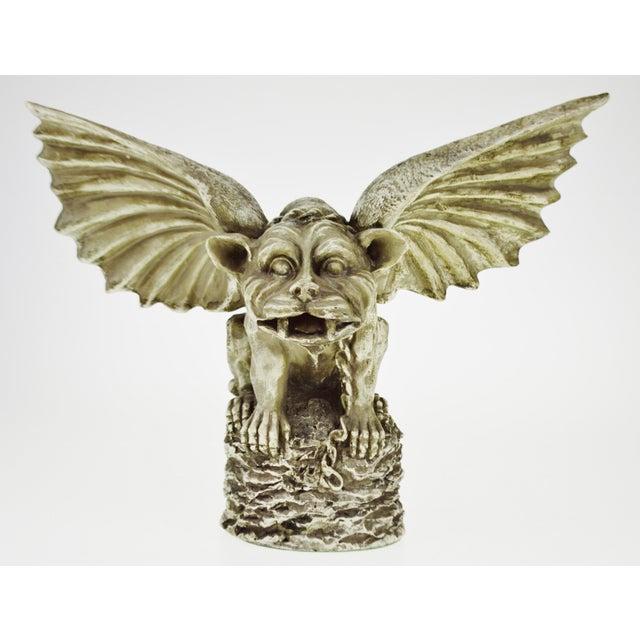 Vintage Gothic Grotesque Gargoyle Winged Dog Statue - Image 2 of 11