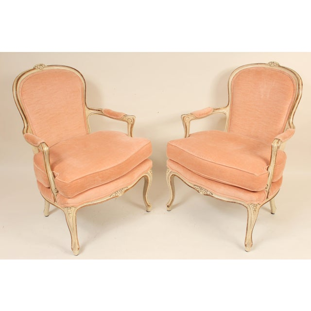 1980s Louis XV Style Painted Occasional Chairs - A Pair For Sale - Image 13 of 13