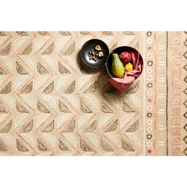 "Contemporary Loloi Rugs Priti Rug, Taupe / Multi - 5'0""x5'0"" For Sale - Image 3 of 4"