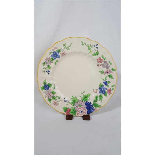 Such a beautiful floral motif on this Royal Doulton 'Dunbar' salad plate, circa 1927-36. Made in England.