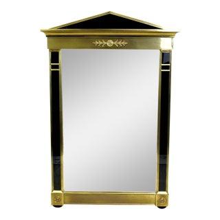 Vintage Mastercraft Brass Empire Style Mirror, Brass Mirror For Sale