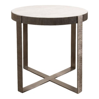 Ragsdale Side Table, Whitewash White For Sale