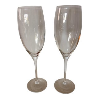 Dom Perignon Crystal Champagne Glasses - A Pair For Sale