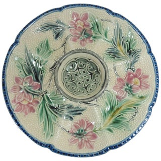 19th Century French Wasmuel Majolica Oyster Plate