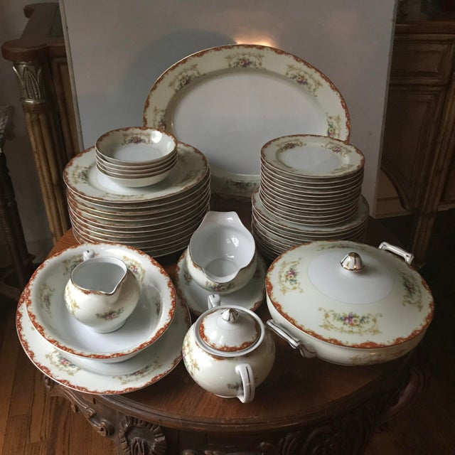 Antique Rare Hinode (Noritake ), Year 1876 Hand Painted China/48 Pieces, Dinnerware. Final Reduction For Sale - Image 13 of 13