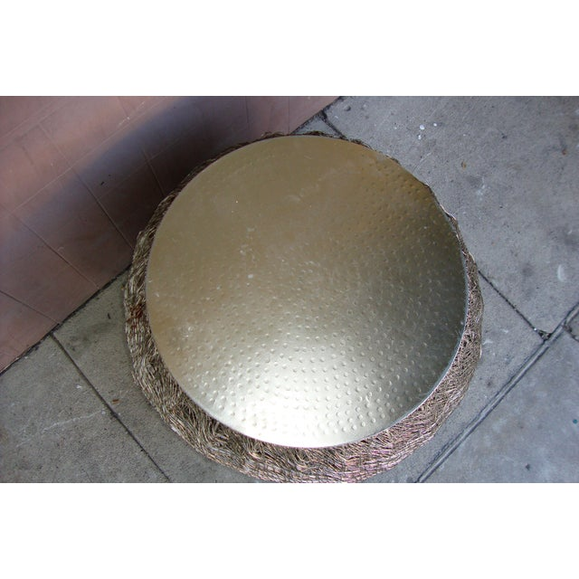 1980s Arts and Crafts Wire Side Table For Sale In Los Angeles - Image 6 of 13
