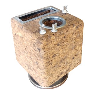 Park Sherman Mid-Century Swiveling Cork Desk Organizer For Sale