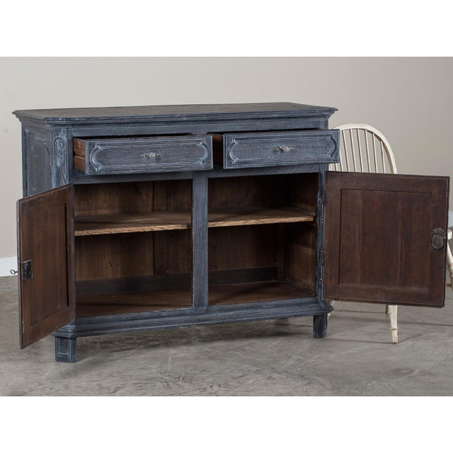 Antique French Régence Style Black Limed Oak Buffet circa 1770 - Image 3 of 11