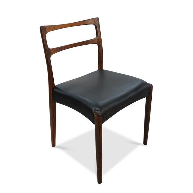 Danish Modern Original Danish Mid Century Johannes Andersen Rosewood Dining Chairs - Set of 4 For Sale - Image 3 of 9
