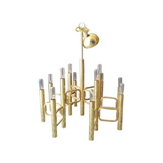 Gaetano Sciolari Brass Links Chandelier