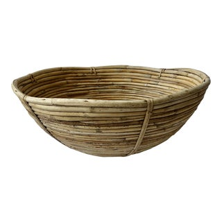 Mid-Century Pencil Reed Gabriella Crespi Style Basket For Sale