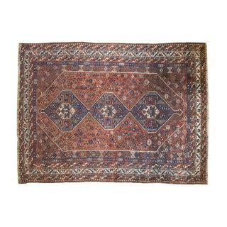 """Vintage Shiraz Carpet - 7'1"""" X 9'4"""" For Sale"""