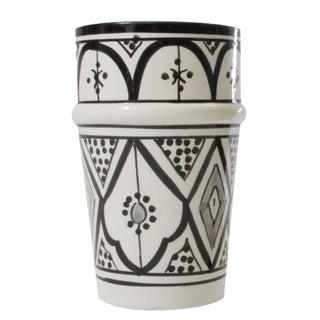 Moroccan Design Black & White Beldi Tumbler Cup