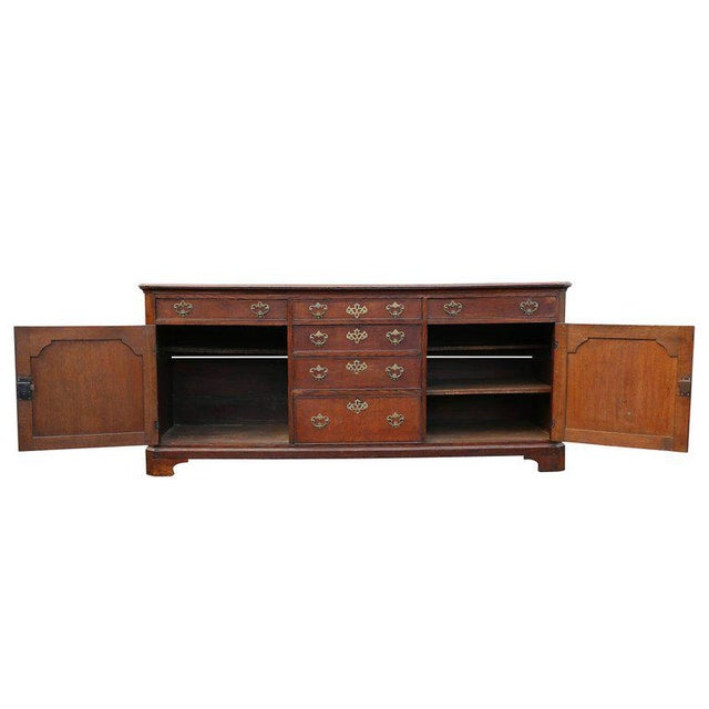 Traditional George II Oak Dresser Base or Sideboard For Sale - Image 3 of 9