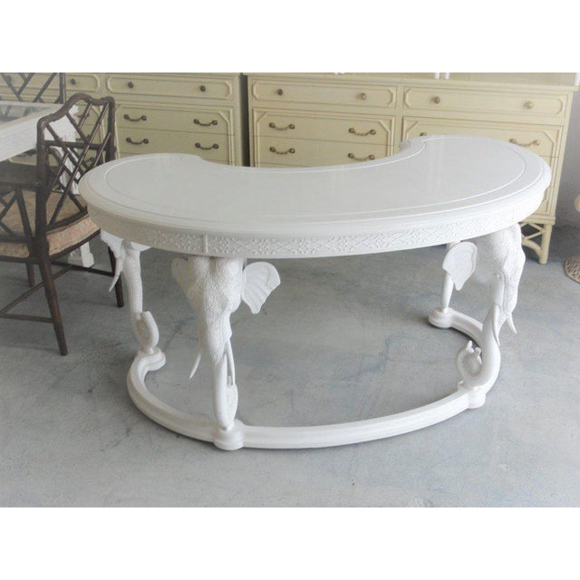 Gampel Stoll Fretwork Elephant Desk For Sale - Image 13 of 13