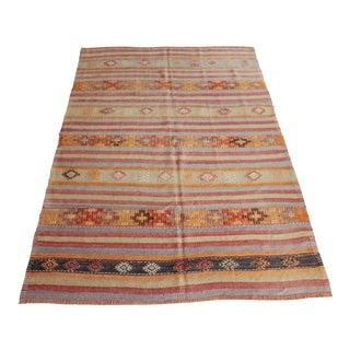 1960s Vintage Turkish Floor Kilim Rug For Sale