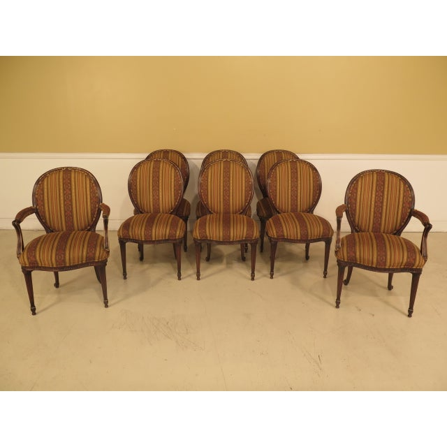 EJ Victor Regency Dining Room Chairs - Set of 8 | Chairish