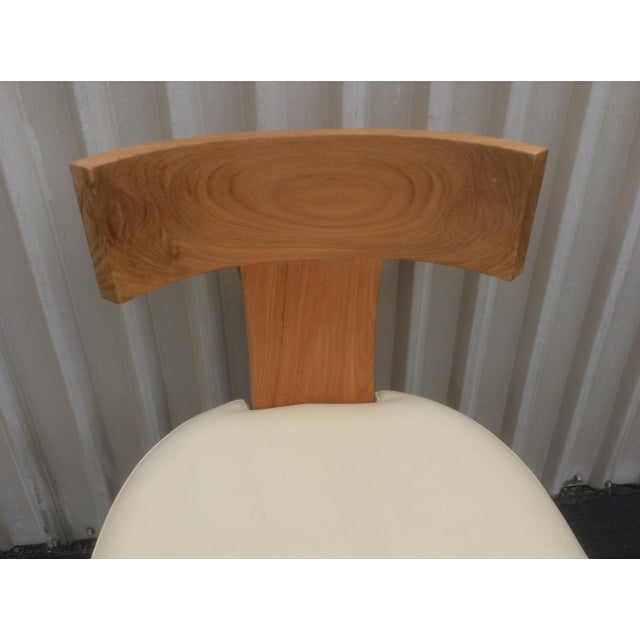 Animal Skin Mid Century Style Ceres Chair With Leather Seat by Ironies For Sale - Image 7 of 11