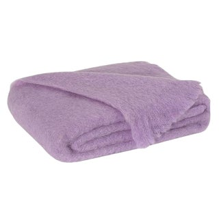 Lilac Brushed Mohair Throw For Sale
