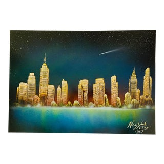 New York City Nyc Skyline Cityscape Painting For Sale