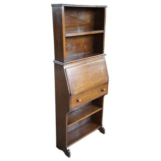 Antique Country Walnut Primitive Secretary Desk For Sale