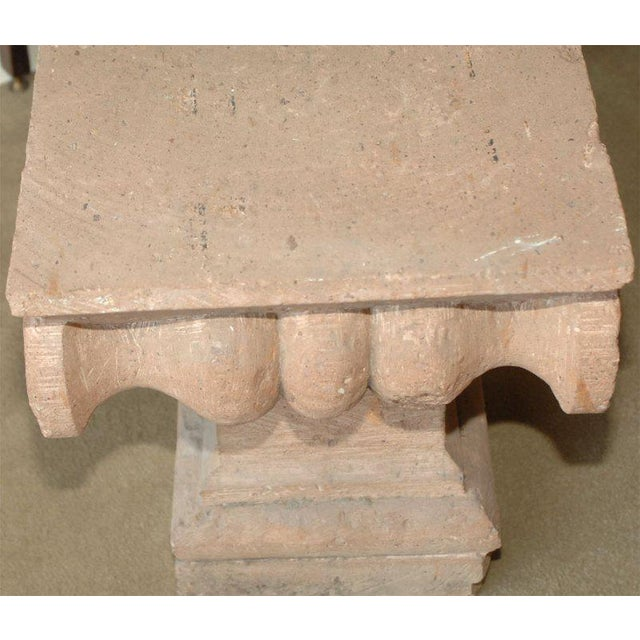 1970s Late 20th Century Spanish Colonial Style Carved Stone Capital For Sale - Image 5 of 5