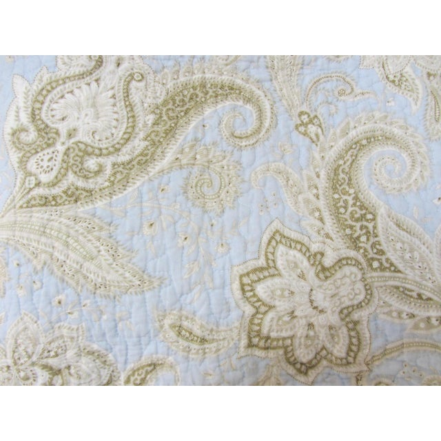 Paisley Stripe Cotton Full/Queen Coverlet Quilt - Image 4 of 5