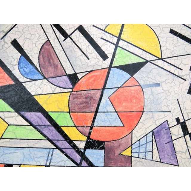 Contemporary 1980s Lee Reynolds Large Abstract Painting in the Style of Wassily Kandinsky For Sale - Image 3 of 11