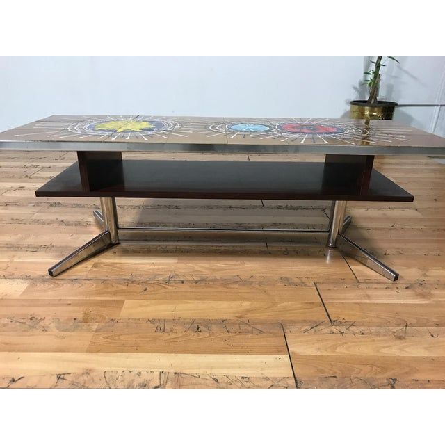 Mid Century Tile Top Coffee Table - Image 3 of 7
