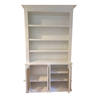 Custom White Painted Bookcase For Sale