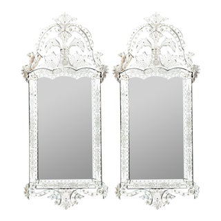 Late 20th Century Venetian Mirrors - a Pair For Sale