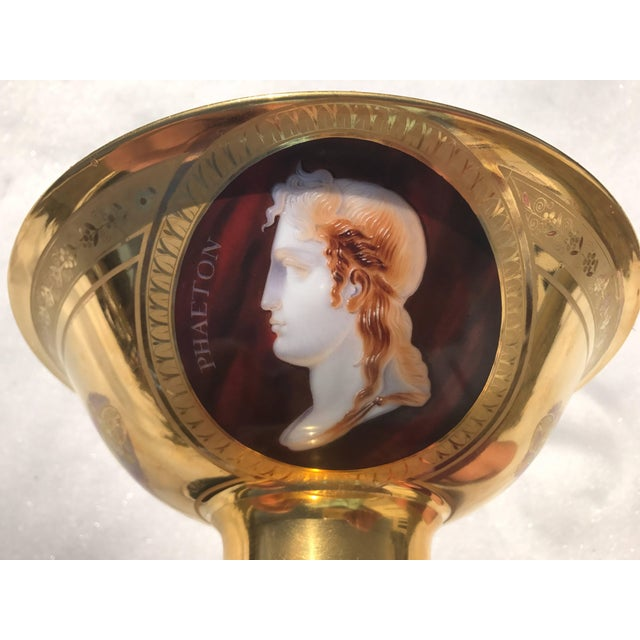 Empire Empire Porcelain Bowl With Cameo Profiles For Sale - Image 3 of 11