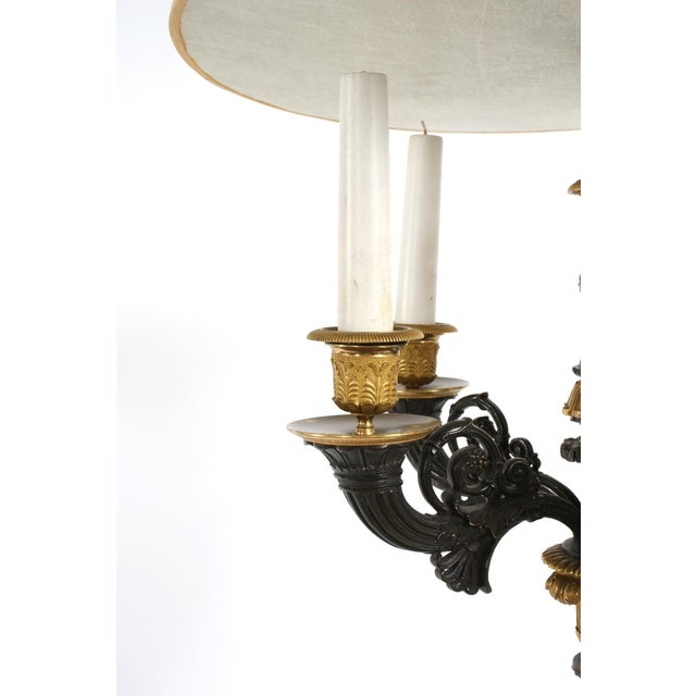 Bronze Gilt Bronze / Art Glass Candelabras Lamp - a Pair For Sale - Image 8 of 12